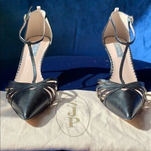 SJP by Sara Jessica Parker Black Leather Heels